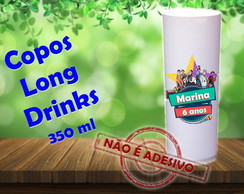 Copos Long Drinks 350 ml Cumplices Resgate