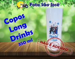 Copos Long Drinks personalizados 350 ml Frozen