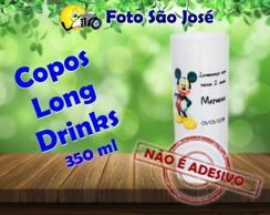 Copos Long Drinks 350 ml Mickey