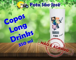 Copos Long Drinks 350 ml minecraft