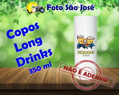 Copos Long Drinks personalizados 350 ml Minions