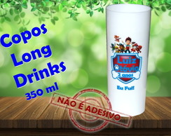 Copos Long Drinks 350 ml Patrulha canina
