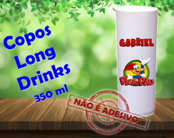 Copos Long Drinks 350 ml Pica-Pau