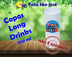 Copos Long Drinks personalizados 350 ml Pocoyo