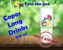 Copos Long Drinks personalizados 350 ml pokemon