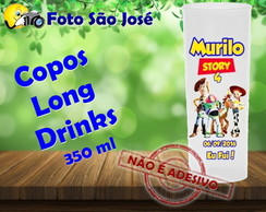 Copos Long Drinks 350 ml toy story