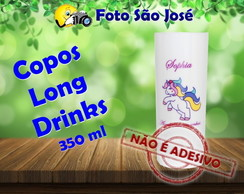 Copos Long Drinks 350 ml Unicórnio