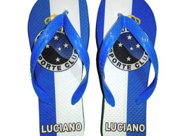 Chinelo Personalizado do time Cruzeiro