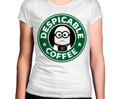 Camiseta Feminina Despicable Coffee Minions