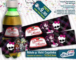 Rótulo Refri Caçulinha - Monster High