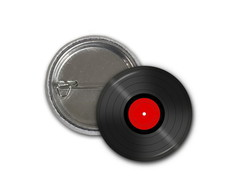 Botton Disco Vinil - 2,5cm