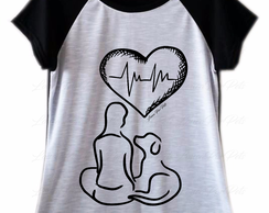 Camiseta Raglan Amor Dog