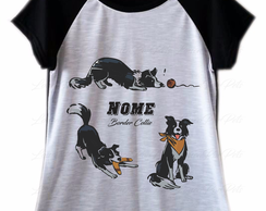 Camiseta Raglan Border Collie