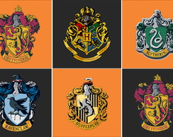 Flamulas das casas de Harry Potter
