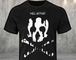 Camiseta Hell Driver Skull Blood