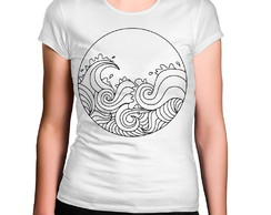 Camiseta Feminina Ondas Do Mar