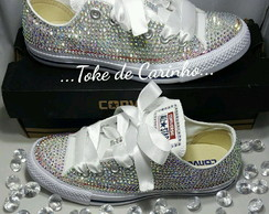 "Converse All Star Luxo ""Swarovski""."
