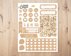 Adesivo Planner - Kit colors - Nude