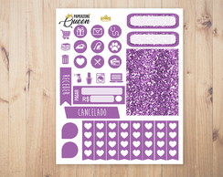 Adesivo Planner - Kit colors - Roxo