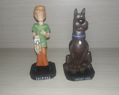 kIT 2 PERSONAGENS SCOOBY- DOO e SALSICHA resina Grande