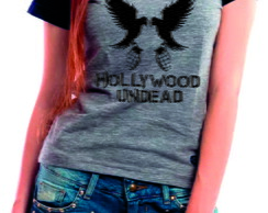 Camiseta Baby Look Hollywood Undead
