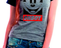 Camiseta Baby Look Mickey Oh Boy Thuf Life Over
