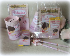 kit de colorir bailarina