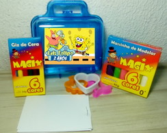 KIt massinha + Kit pintura na maleta