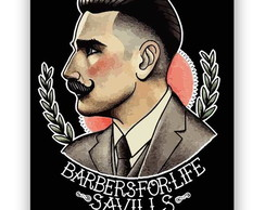 Placa Barbeiro - Barber Shop
