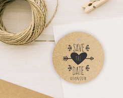Tag Kraft | Save The Date | Circular
