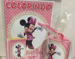 kit para colorir com cofre Minnie