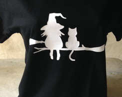CAMISA BRUXA - WITCH AND CAT