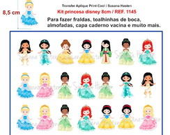 Transfer Aplique Kit princesa disney 8cm / REF. 1145