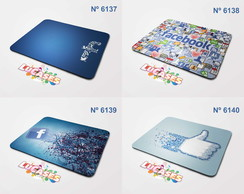 Mouse Pad Facebook Face Like Marca Marcas Logo Mousepad