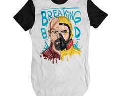 Camiseta longa Breanking Bad Camisa Swag Alongada