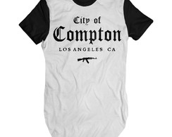 Camiseta Longa City of Compton camisa Swag Alongada