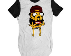 Camiseta alongada masculina long line Swag Jake Swag