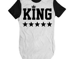 af124eeebd Camiseta alongada King masculina longline rap swag