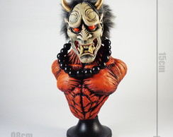 Hannya mascara oni tattoo samurai busto 2.0 (red)