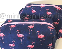 Necessaire Box Flamingos