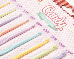 Kit Agulha Candy Crochê Da Circulo