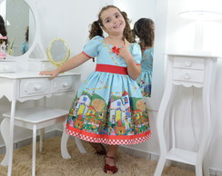 63b90230f4 Vestido infantil de festa - fábula azul no Elo7