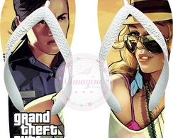 Chinela Havaiana Personalizada Gta 5 Grand The Auto Cd: Gt01