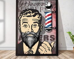 Quadro Decorativo com Moldura Barbershop Pole RR018