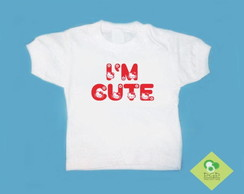 T-Shirt Bebê e Infantil I`M CUTE H.KITTY