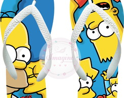 Chinela Havaiana Personalizada Os Simpsons Cod: Sp01