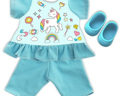 Kit Para Baby Alive e Little Mommy - Unicórnio