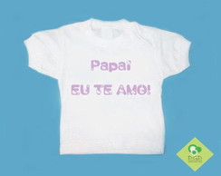 T-Shirt Bebê e Infantil ♥ PAPAI H. KITTY
