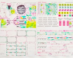 Kit semanal de Adesivos para planner GIRL POWER