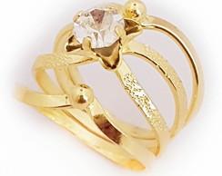 ... Anel Feminino Brilhante Princesa Feliz Folheado A Ouro 18k. b8c227e26ff